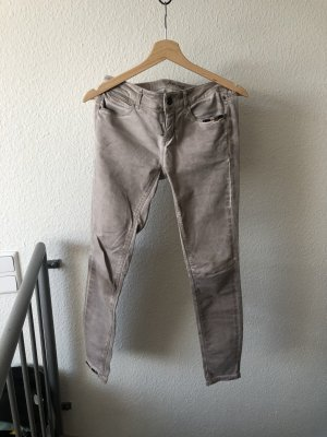 Zabaione Jeans cigarette crème-brun sable