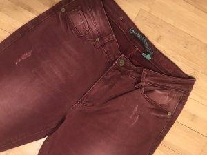 ZABAIONE Jeans, weinrot, 5-Pocket-Hose, Gr. 36/32 Regular fit