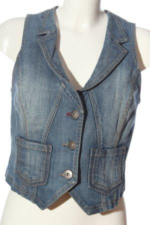 Zabaione Smanicato jeans blu stile casual