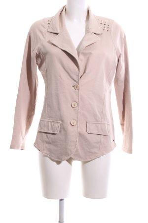 Zabaione Jersey blazer nude casual uitstraling