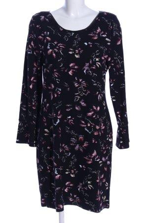 Zabaione Jerseykleid schwarz-pink Blumenmuster Casual-Look