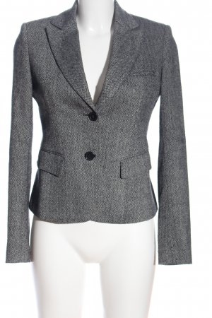 Zabaione Kurz-Blazer hellgrau grafisches Muster Business-Look