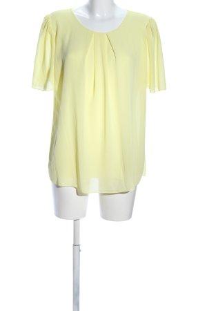 Zabaione Kurzarm-Bluse blassgelb Casual-Look