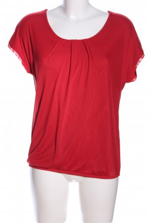 Zabaione Kurzarm-Bluse rot Casual-Look