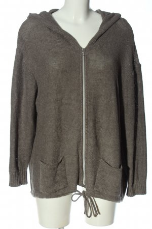 Zabaione Cardigan a maniche corte grigio chiaro stile casual