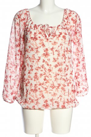 Zabaione Long Sleeve Blouse natural white-red allover print casual look