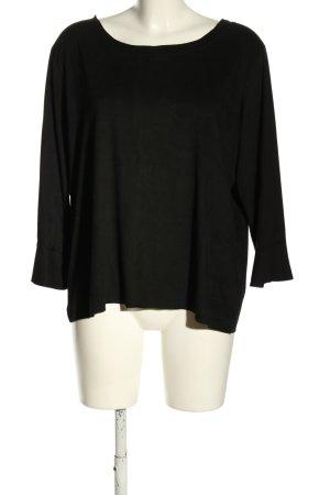 Zabaione Langarm-Bluse schwarz Casual-Look