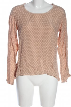 Zabaione Langarm-Bluse nude-creme Allover-Druck Casual-Look