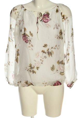 Zabaione Long Sleeve Blouse flower pattern casual look