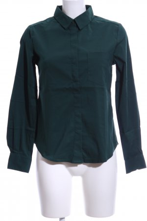 Zabaione Langarm-Bluse dunkelgrün Casual-Look