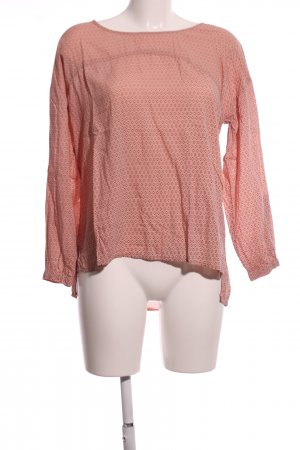 Zabaione Langarm-Bluse pink Allover-Druck Business-Look