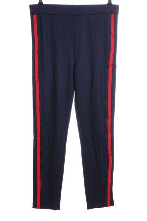Zabaione Leggings blu-rosso stile casual