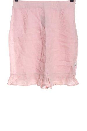 Zabaione Falda de lino rosa look casual