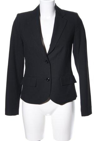 Zabaione Lange blazer zwart zakelijke stijl