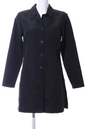 Zabaione Blouse longue noir motif abstrait style d'affaires