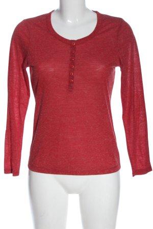 Zabaione Manica lunga rosso puntinato stile casual