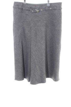 Zabaione Spódnica midi jasnoszary Melanżowy W stylu biznesowym