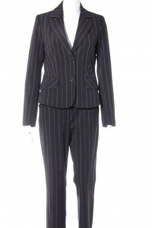 Zabaione Pinstripe Suit dark blue business style