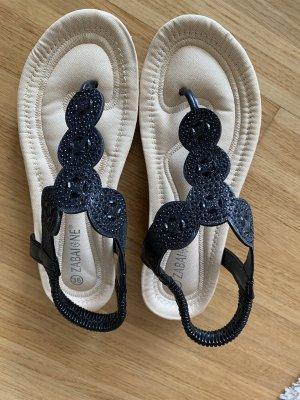Zabaione Flip-Flop Sandals black-beige