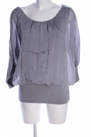 Zabaione Blouse à enfiler gris clair style décontracté