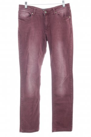 Zabaione Slim Jeans brown red-oatmeal casual look