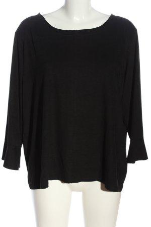 Zabaione Schlupf-Bluse schwarz Casual-Look