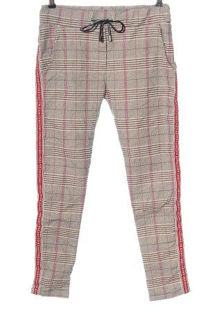 Zabaione Jersey Pants check pattern casual look