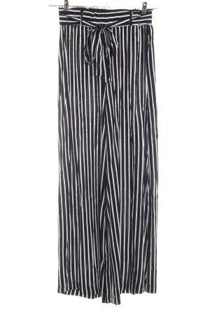 Zabaione Stoffhose schwarz-weiß Streifenmuster Casual-Look