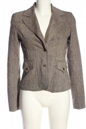 Zabaione Knitted Blazer light grey business style