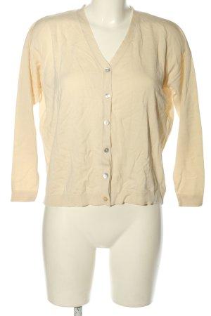 Zabaione Giacca in maglia crema stile casual