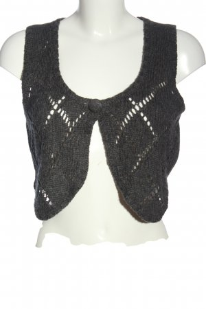 Zabaione Knitted Vest light grey flecked casual look