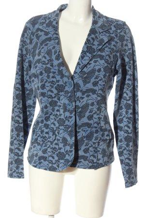 Zabaione Sweat Blazer blue allover print elegant