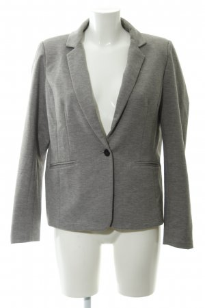 Zabaione Sweatblazer grau-hellgrau meliert Business-Look