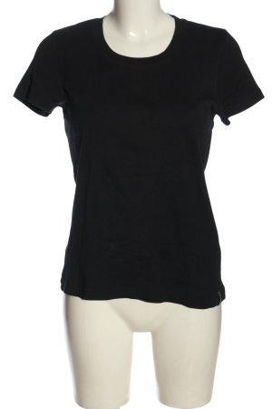 Zabaione T-shirt nero stile casual
