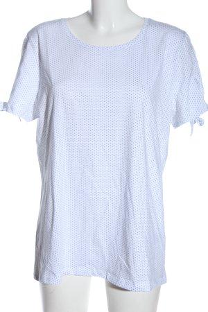 Zabaione T-shirt bianco-blu stampa integrale stile casual