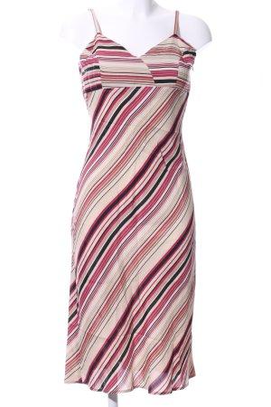 Zabaione Trägerkleid pink-creme Streifenmuster Casual-Look