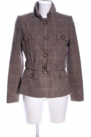 Zabaione Tweedblazer braun Allover-Druck Business-Look