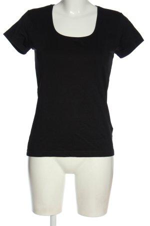 Zabaione Boatneck Shirt black casual look