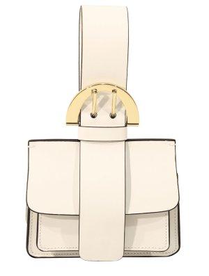 Zac Posen Handgelenktasche in Weiß aus Leder