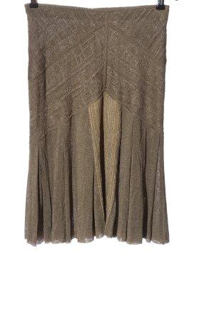 Zac Posen Pleated Skirt bronze-colored elegant