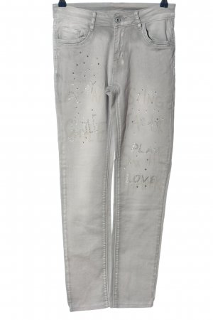 Zac & Zoe Stretch Jeans hellgrau Casual-Look