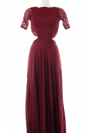 Zack Abendkleid rot Blumenmuster Elegant