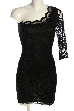 Zack One-Shoulder-Kleid schwarz Elegant