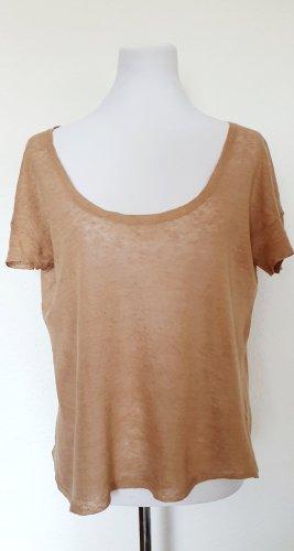 Zadig und Voltaire leichtes Strickshirt Sommer Shirt hellbraun Gr 40/42