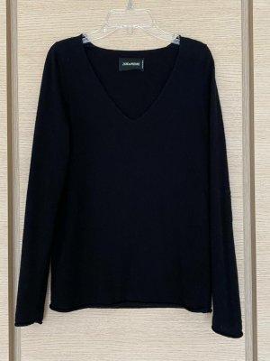 Zadig & Voltaire Wełniany sweter czarny