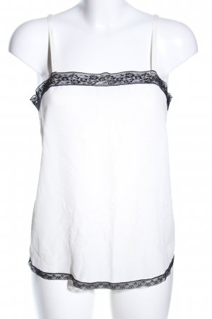 Zadig & Voltaire Blusentop weiß-schwarz Elegant
