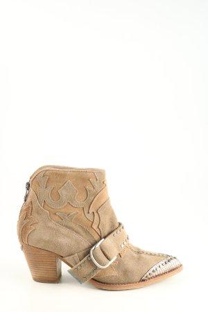 Zadig & Voltaire Botki brązowy-w kolorze białej wełny Łączone wzory