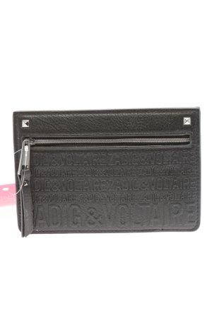 Zadig & Voltaire Bolso de mano gris claro letras impresas elegante