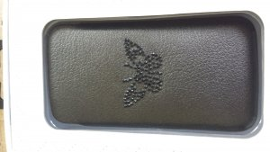 Zadig & Voltaire Mobile Phone Case black brown leather