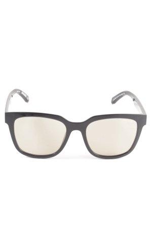 Zadig & Voltaire eckige Sonnenbrille schwarz Business-Look